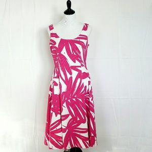 Pink and white Donna Morgan dress